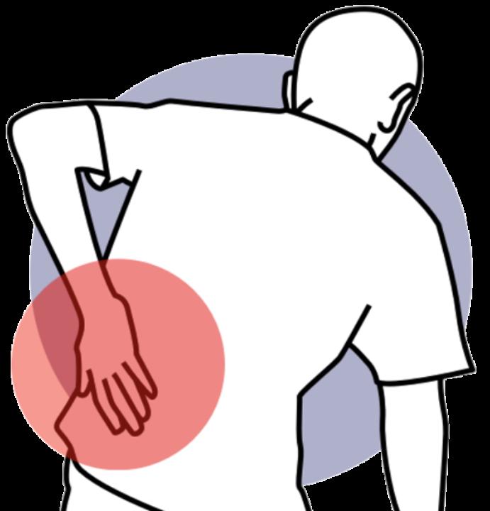 Dolore da discopatia della colonna